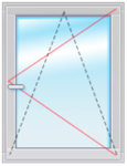 Окно ПВХ 1500х1000  стеклопакет 4-16-4