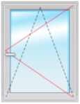 Окно ПВХ 1500х800 стеклопакет 4-16-4