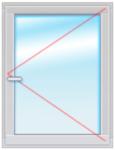 Окно ПВХ 1500Х1000 стеклопакет  4-14-4-14-4