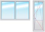 Балкон. группа 2200х2100 стеклопакет 4-10-4-10-4