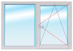 Dexen В70мм 1500х1200 стеклопакет 40мм Siegenia