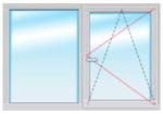 Окно ПВХ 1500Х1200 стеклопакет 4-14-4-14-4