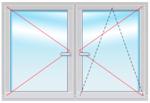 KBE Expert В70 1500х1800 стеклопакет 40мм SIEGENIA