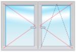 Окно ПВХ 1500Х1800 стеклопакет 4-14-4-14-4