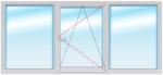 Окно ПВХ 1500Х2400 стеклопакет 4-14-4-14-4