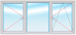 Окно ПВХ 1500х1800 стеклопакет 4-10-4-10-4