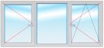 Окно ПВХ 1500х2200 стеклопакет 4-10-4-10-4