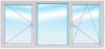Окно ПВХ 1500х2400 стеклопакет 4-16-4