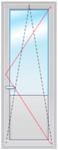 Дверь ПВХ 2200х700 стеклопакет 4-10-4-10-4