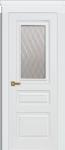 Дверь Троя ДО, белая эмаль, мателюкс
