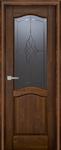 Дверь Лео античный орех остекленная