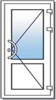 Дверь ПВХ офисная без порога 900х2100